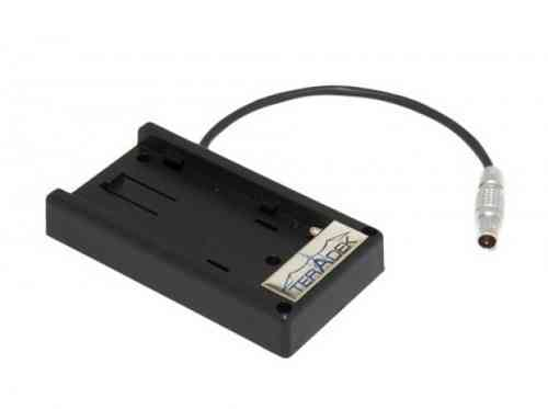 Akku Adapter Platte für Panasonic CGA-D54 7.2 Volt Batterien to 2-Pin Lemo